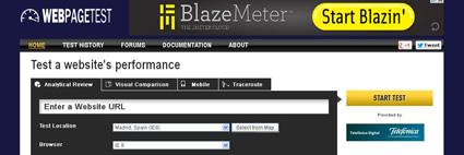 Web page test velocidad de carga