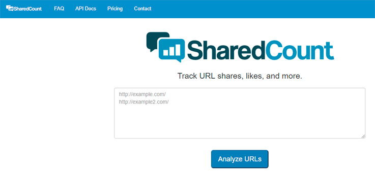 SharedCount compartir redes sociales