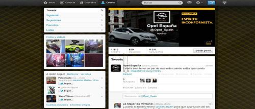 Opel desafía a Twitter con sus tweets que se salen de los márgenes