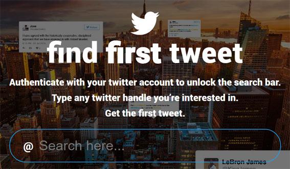 Find-First-Tweet-encuentra-primer-tweet-twitter-aplicaciones-curiosas-extrañas