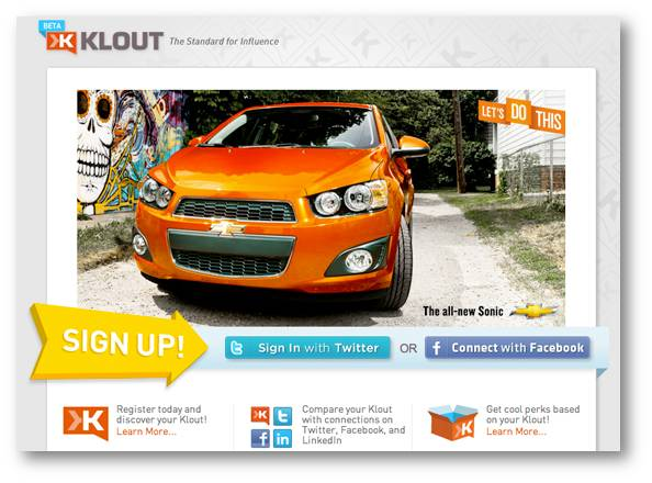 chevrolet klout