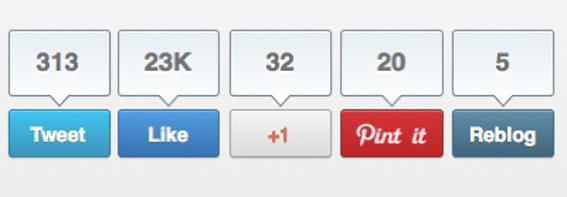 post blog botones compartir redes sociales