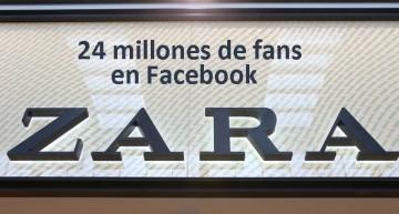 Zara alcanza los 24 millones de fans en Facebook y es la 29ª página con más seguidores del mundo