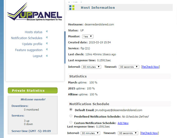 up-panel-monitorizacion-web herramientas
