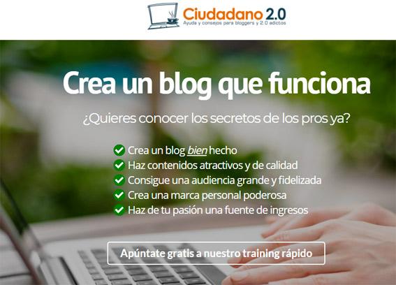 landing page ciudadano-2.0