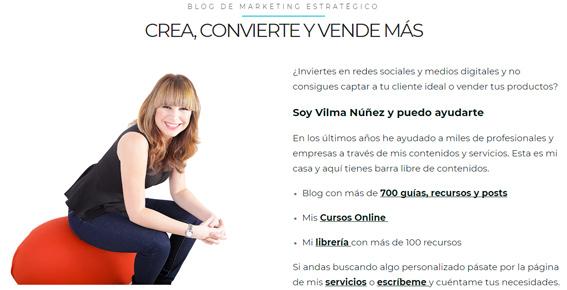 landing page vilma-nuñez