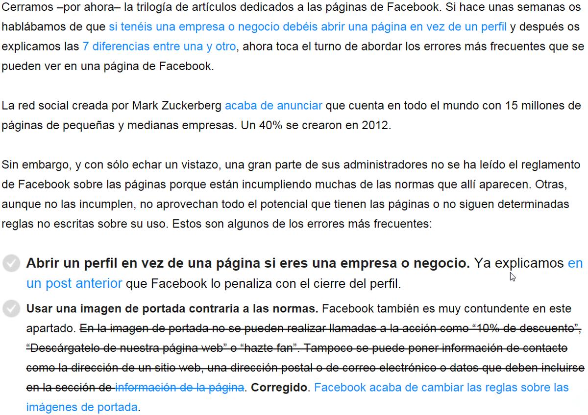 pagina facebook errores 2