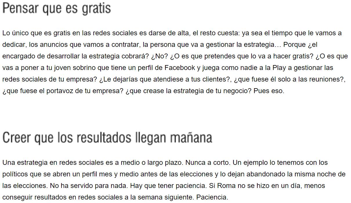 redes sociales errores empresas 3