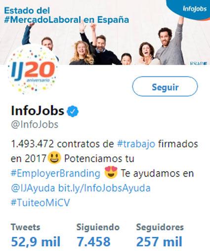 infojobs twitter ofertas de trabajo y empleo