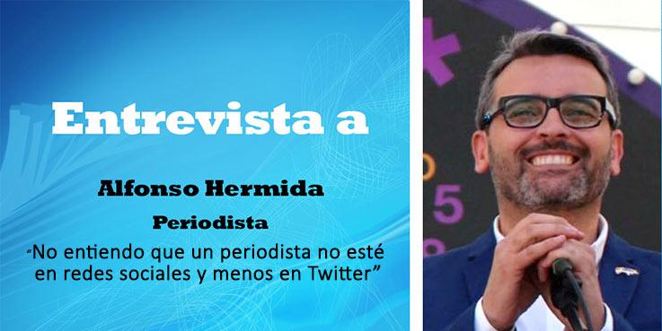 """Alfonso Hermida: """"No entiendo que un periodista no esté en redes sociales y menos en Twitter"""""""