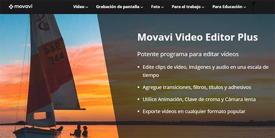 Movavi Video Editor Plus mejores programas de edición de vídeos