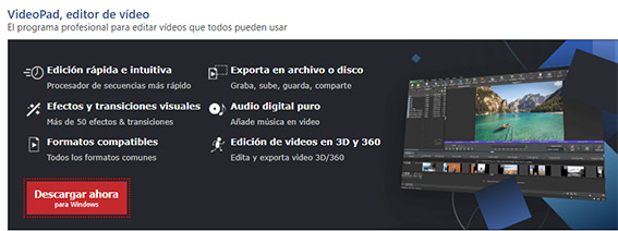 videopad mejores programas de edición de vídeos